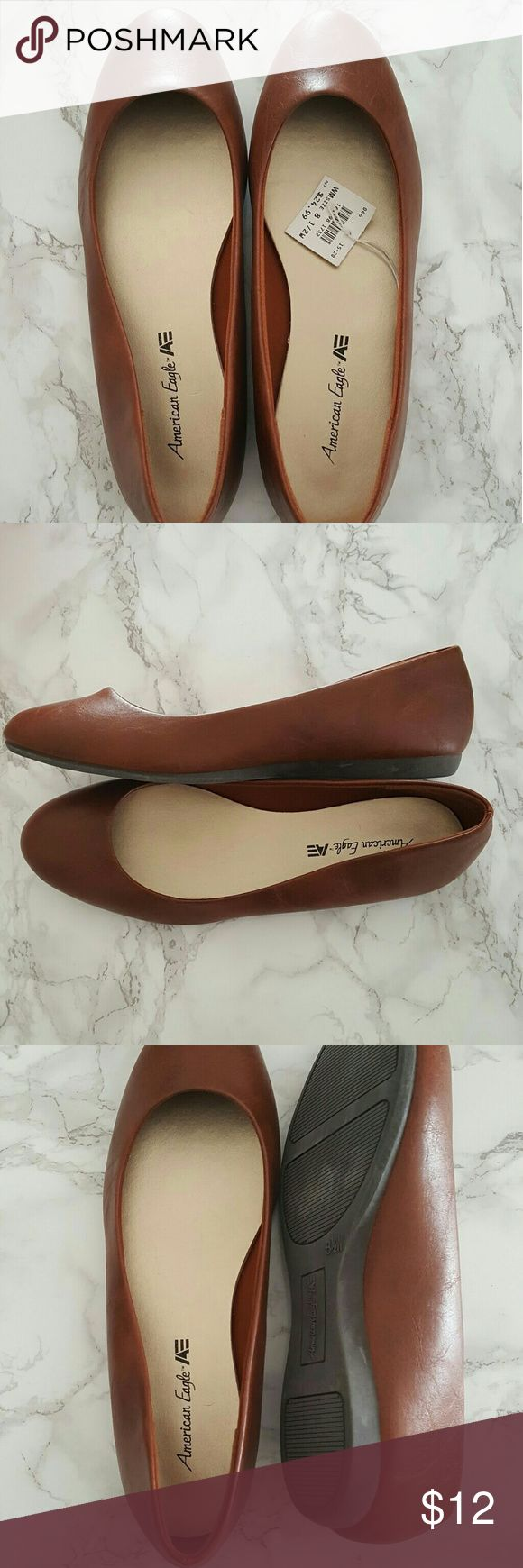 American eagle brown ballet flats New with tags. 8.5 wide. American eagle by payless. American Eagle by Payless Shoes Flats & Loafers
