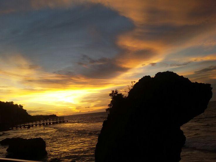 beautiful sunset at rockbar jimbaran bali