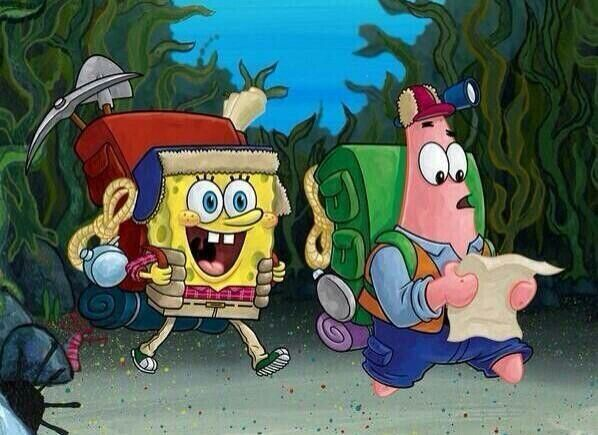 Spongebob and Patrick want to camping