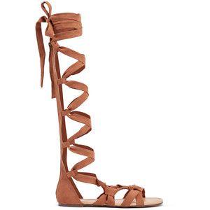 ShoeDazzle Flat Sandals Desislava Womens Brown/Brown