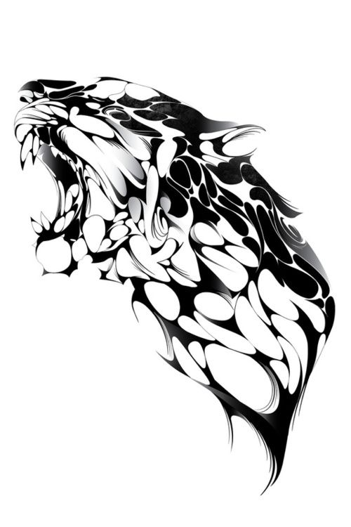 Abstract, black and white, Illustration, Panther. http://acreativeuniverse.com/
