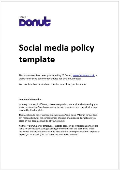12 Best Social Media Policy Images On Pinterest | Social Media