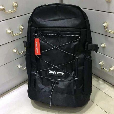 Supreme Black Strings Backpack Online | DHL