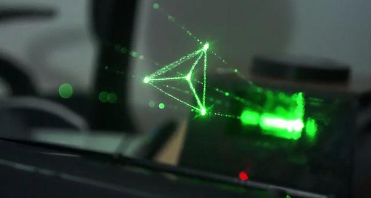 Découvrez l'Holovect : un petit appareil révolutionnaire qui permet de projeter des hologrammes, un peu comme celui de la Princesse Leia dans Star Wars.