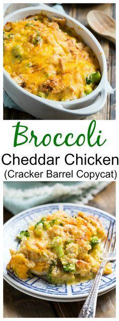 Broccoli Cheddar Chicken (Cracker Barrel copycat)