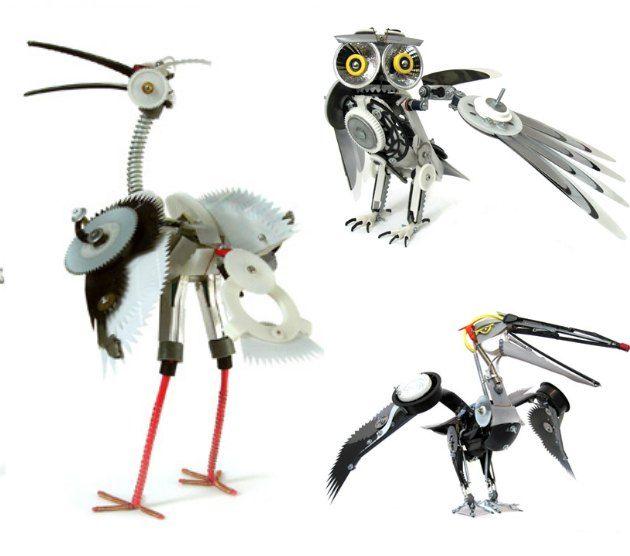 robot fugle af genbrug af Ann. P. Smith