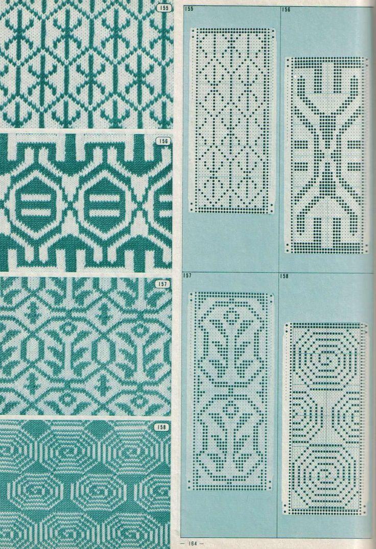 122 best punchcards images on pinterest knit patterns loom jaquard pattern loom knitting patternstapestry bankloansurffo Images