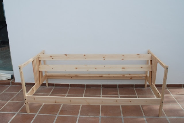 ikea hackers outdoor sofa from fjellse bed furniture pinterest