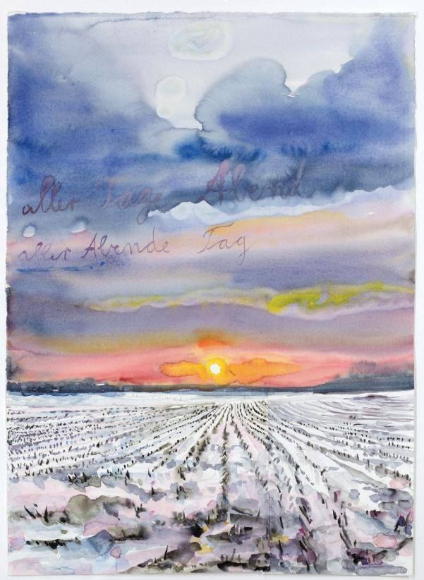 Aller Tage Abend, alle abends Tage, 2014 by Anselm Kiefer