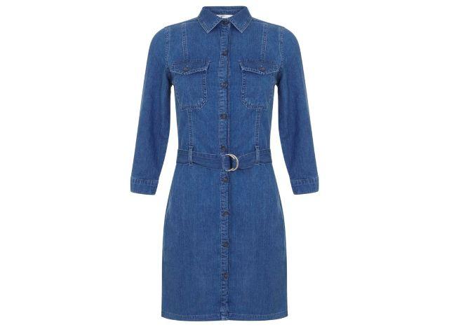 Utility denim shirt dress, £42.00 MISS SELFRIDGE at House of Fraser houseoffraser.co.uk