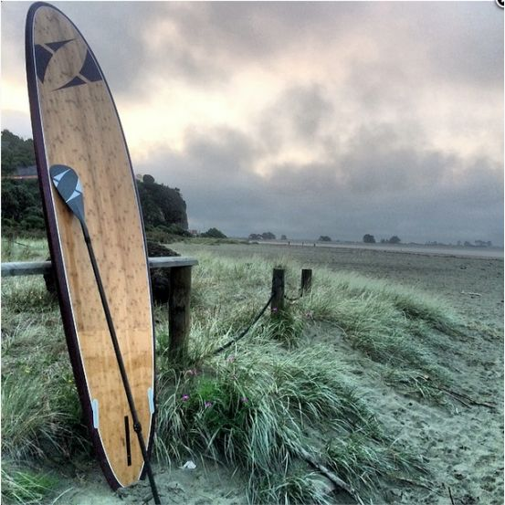 Classic Bamboo 11'2 Paddle Board by Pacific Paddle Company #thekiwicollective #newzealand #newzealandsfinest