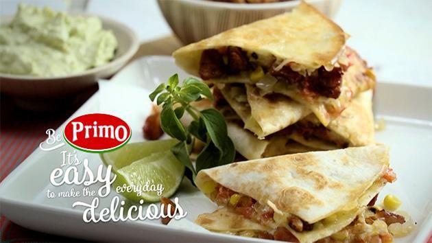 Chorizo and Goats Cheese Quesadillas with Guacamole