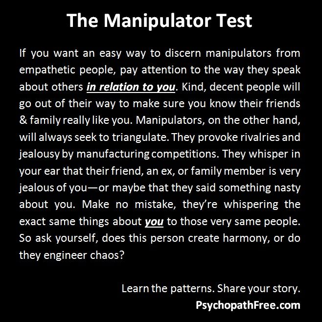 Hmm....interesting! I thought that was called teenage drama, but it exists in adulthood- so manipulation is it.