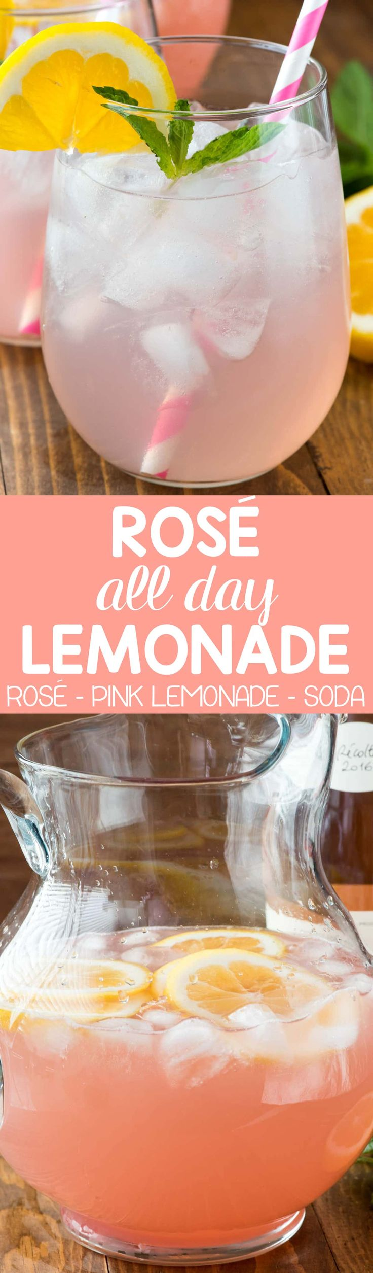 Pink Rose Lemonade this easy 3 ingredient Rose All Day Lemonade is perfect for summer!