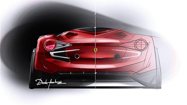 Ferrari Abstract 2013 by Darko Markovic, via Behance