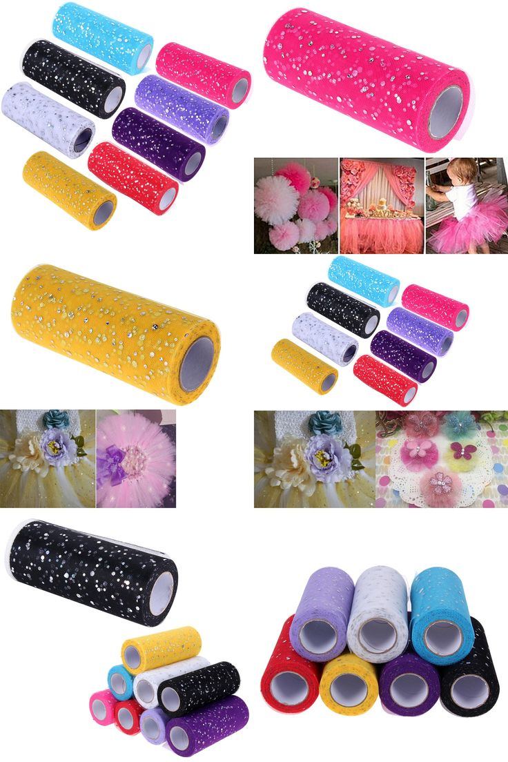 [Visit to Buy] 25 yards 15cm Glitter Sequin Tulle Roll  Spool Tutu Wedding Decoration Tulle Rolls Organza Gauze Element Table Runner Mariage  #Advertisement