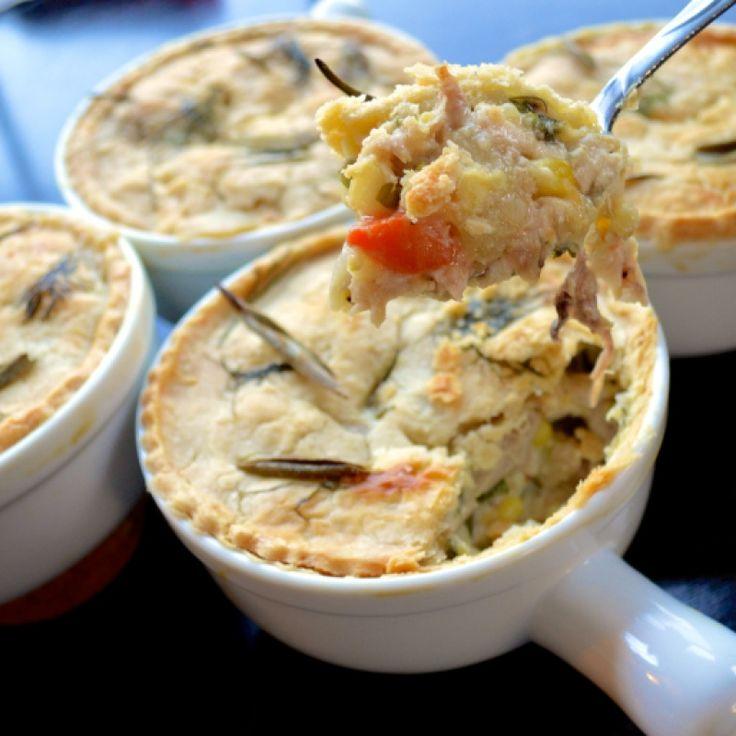 . Herb Crust Mini Chicken Pot Pies Recipe from Grandmothers Kitchen.