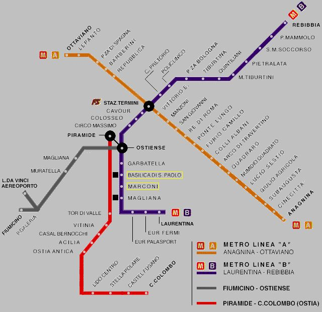 rome metro map pdf 2014