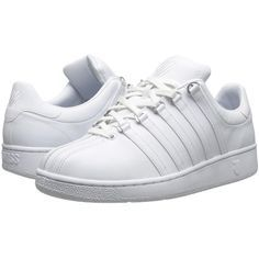 K-Swiss Classic VN Women's Shoes ($75) ❤ liked on Polyvore featuring shoes, striped shoes, herringbone shoes, laced up shoes, k-swiss and k swiss footwear