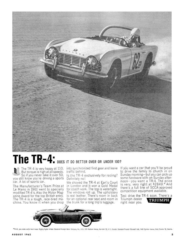 215 Best 1961 65 Triumph Tr 4 Images On Pinterest Ads