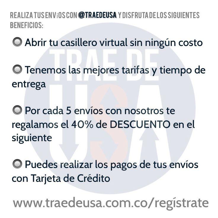 Contacto: Whastapp: 300 438 71 45 Correo: info@traedeusa.com.co www.traedeusa.com.co/regístrate  #traedeusa #facilitatuscompras #compraenUSA #recibeenCOL