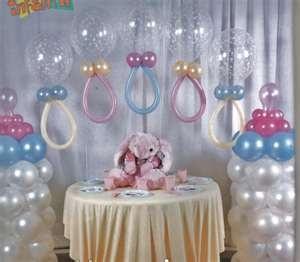 linda decoração para cha de bebê....