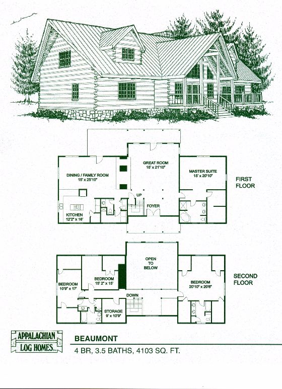 Appalachian Log   Timber Homes Beaumont Log Cabin  Hybrid Home Floor Plan. 17 Best images about Standard Model Floor Plans on Pinterest
