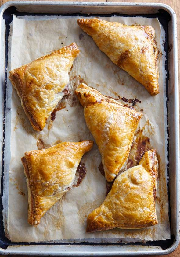 Pear Turnovers Recipe   Joanne Chang (Made with no refined sugar, these pear turnovers rely on dates instead for a subtle sweetness that goes perfectly with the pears and fall spices.)