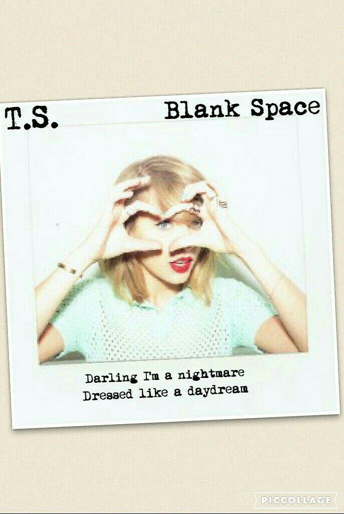 Blank Space polaroid lyric edit by Chloe Is a Swiftie