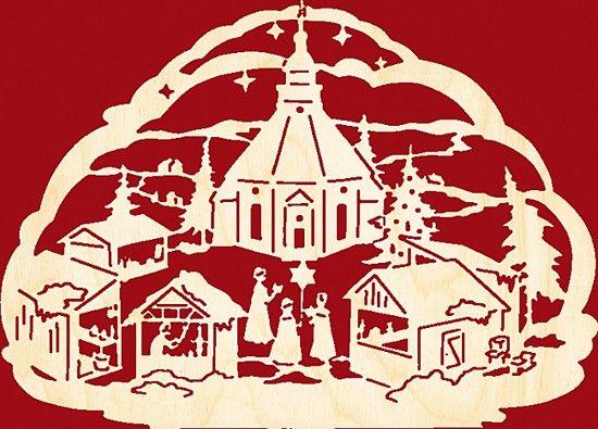 Taulin Fensterbild Seiffener Weihnachtsmarkt