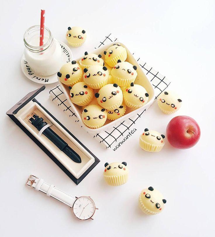 Panda steamed cakes by WanwanTea (@wanwantea)