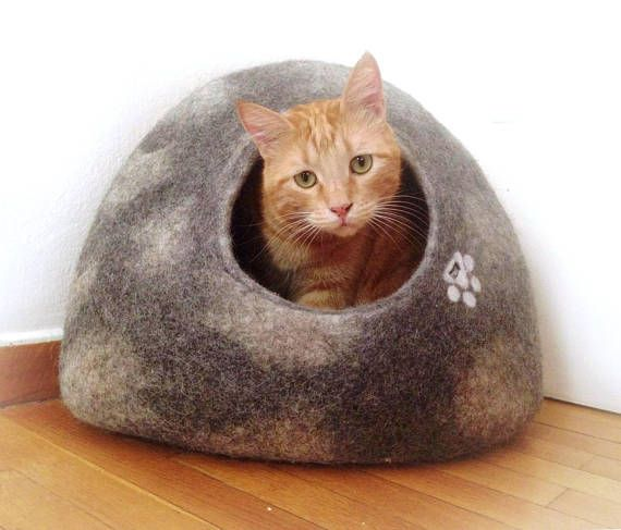 Cat Igloo or small dog igloo house modern cat furniture #cat #igloo