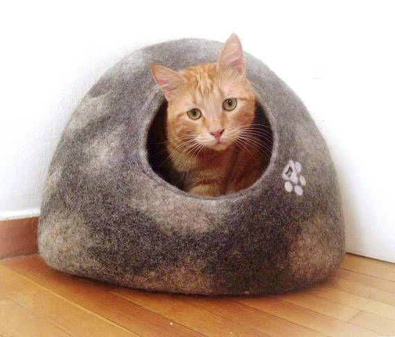 Cat Igloo Or Small Dog Igloo House Modern Cat Furniture Kitten