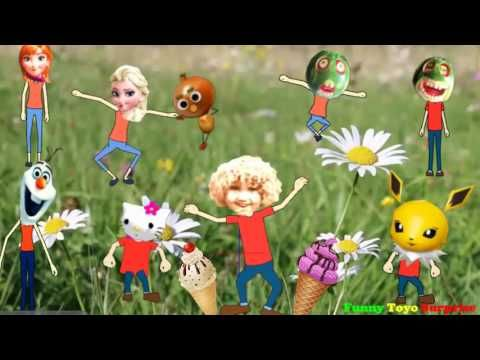 Song Ice-Cream Pikachu Stop Motion Elsa Anna Olaf Frozen Hello Kitty Pokémon 歌曲…