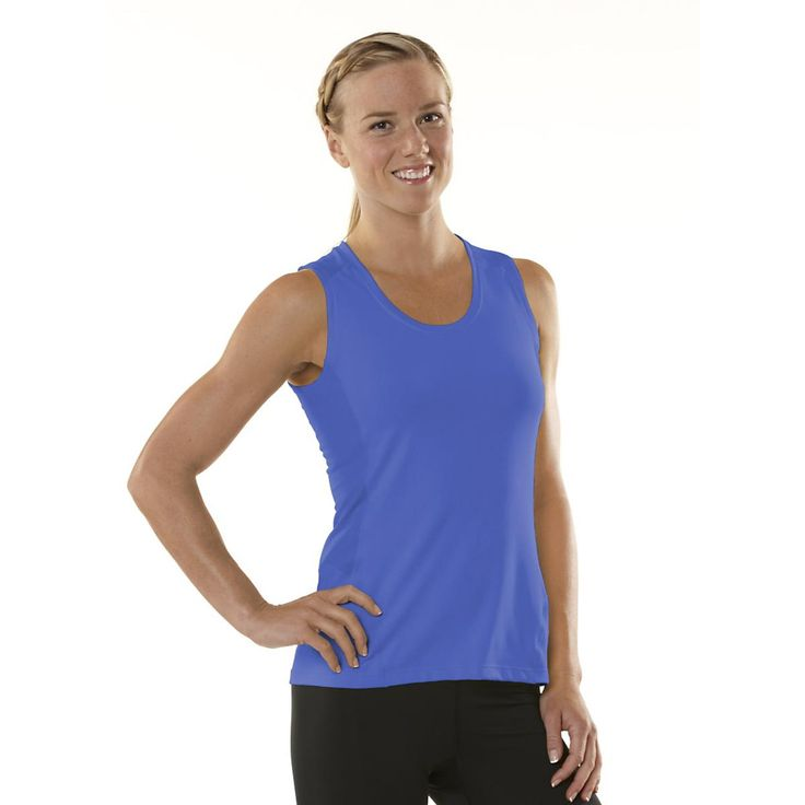 Flatter your figure while youre having your workout fun in the sleek and slimming Womens ROAD RUNNER SPORTS Runners High Sleeveless