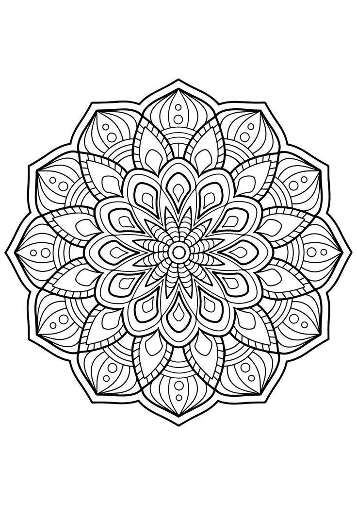 Pin Auf Mandalavorlagen
