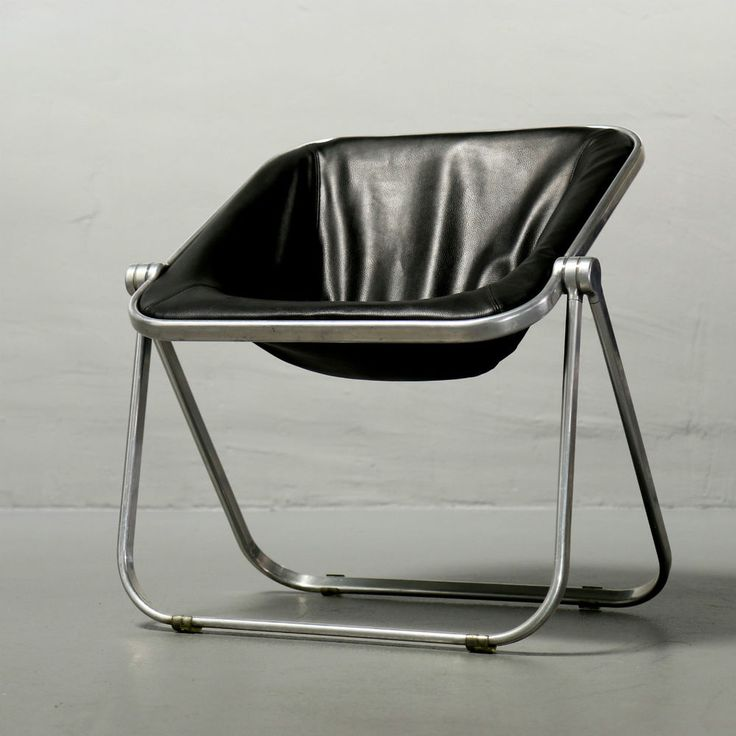 Giancarlo Piretti, Klappsessel Plona Leder für Castelli Folding Chair Stuhl 60er
