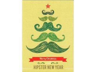 kaart 'Hipster New Year'