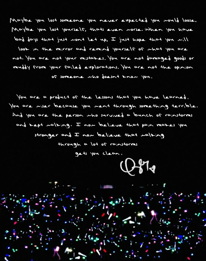 Taylor's speech before Clean in her handwriting (x)
