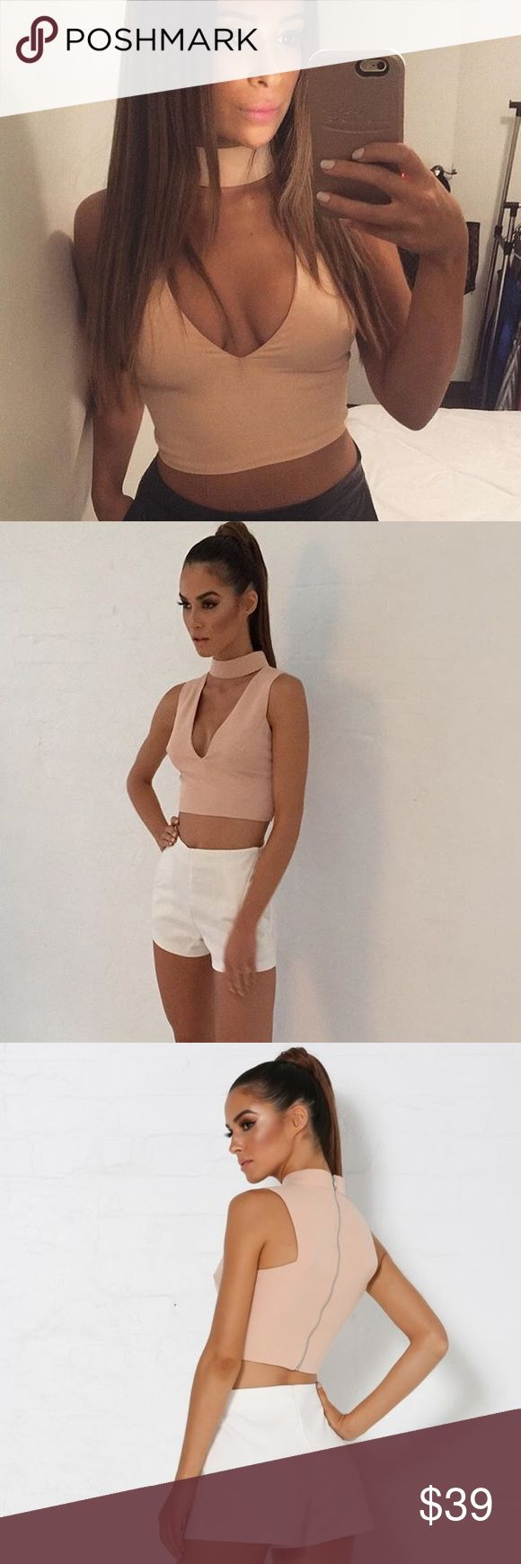 • Nude Zip Back Crop Top ✨ NWT! Comes in plastic! ✨ Zip in back! ✨ Shorts the model is wearing is also for sale. The listing is in my closet and they are a size large as well❤ ✨ Price is firm @ $39! ✨ Be advised that prices are more than firm on here and that any offer will not be accepted! Will sell cheaper on my Vinted account. Username is xo_a.lyn.w_xo. Download the app and find me. XO💖 ✖️NOT Missguided! Put for exposure✖️ Missguided Tops Crop Tops