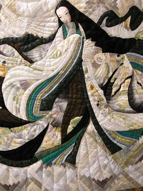 On my third trip walking through the exhibit at Festival , I took pictures of some of the quilts that really grabbed me.  It's a pretty ecle...