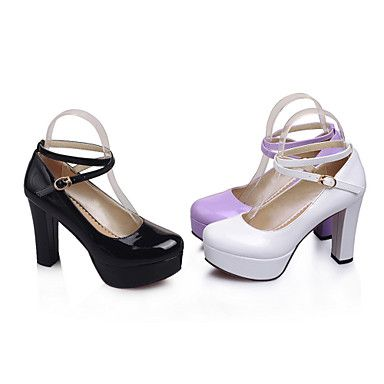 Women's Shoes Patent Leather Stiletto Heel Round Toe Pumps Dress More Colors available – USD $ 29.99