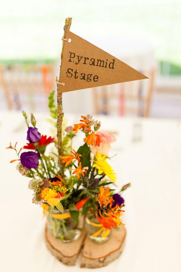 Glastonbury festival wedding table names // Bohemian Weddings // The Natural Wedding Company
