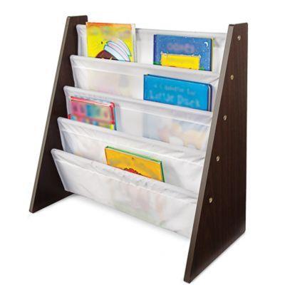 tot tutors 4 pocket espresso white book rack sears sears canada - Tot Tutors Book Rack Primary Colors