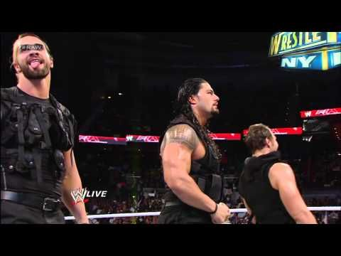 After The Shield attacks Brad Maddox, John Cena, Sheamus and Ryback send them running for cover: Raw - YouTube