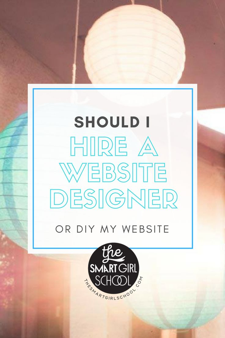 Should I Hire A Website Designer or Not?  Click to learn more and get the free class on learning how to DIY your blog + website + online store.