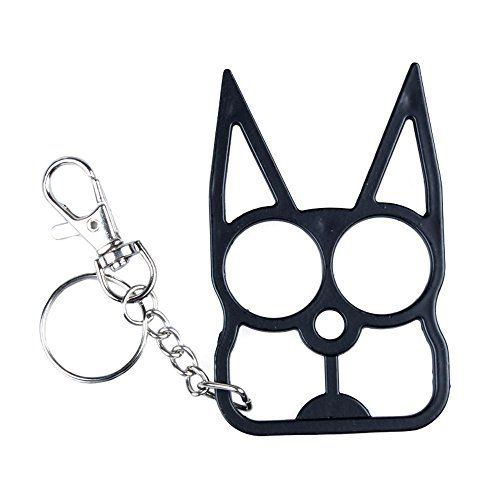 Cat Self Defense Keychain Black