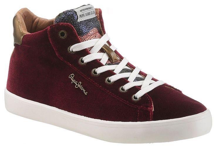 sale retailer 7c786 ea75d Damen Pepe Jeans Stark Sequins Sneaker mit goldfarbenen ...