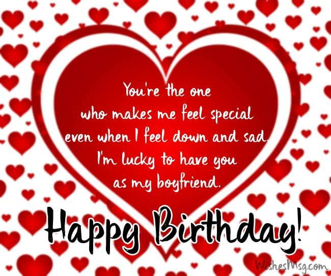 Birthday Wishes For Boyfriend Romantic Birthday Messages