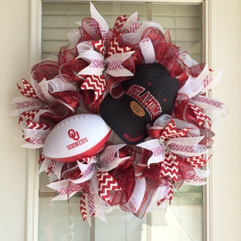 13 Best Images About Sports Themed Wreaths On Pinterest